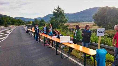 Helferteams beim Fränkischen Schweiz Marathon