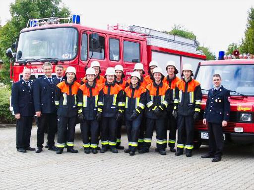 Gruppenbild: Prüfung zum Truppmann in Gräfenberg