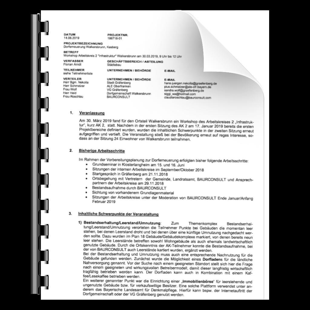"""Icon zu Protokoll zum Workshop des Arbeitskreis 2 """"Infrastruktur"""" Walkersbrunn am 30. März 2019"""