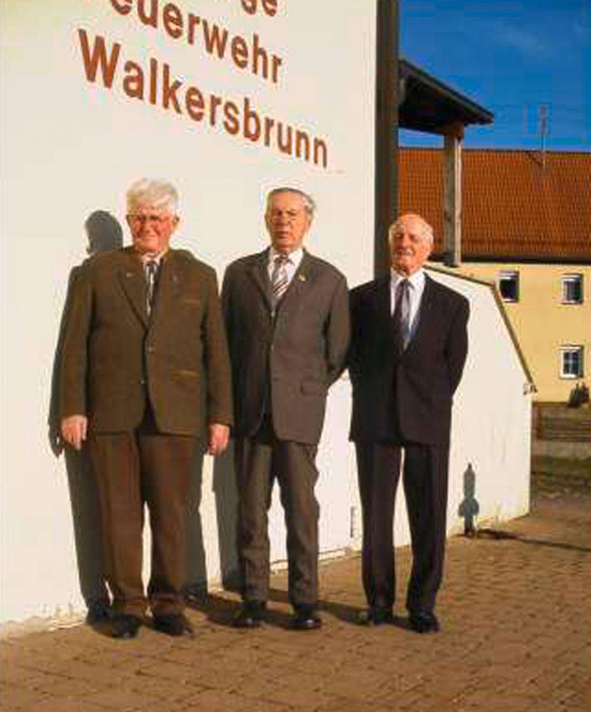 Alfred Igel, Gerhard Weigel und Willhelm Trautner (v.l.)