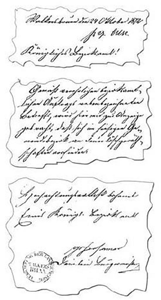 Das älteste Schriftstück der Freiwilligen Feuerwehr Walkersbrunn