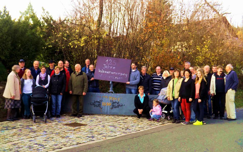 125 Jahre öffentliche Wasserversorgung Walkersbrunn am 8.11.2015