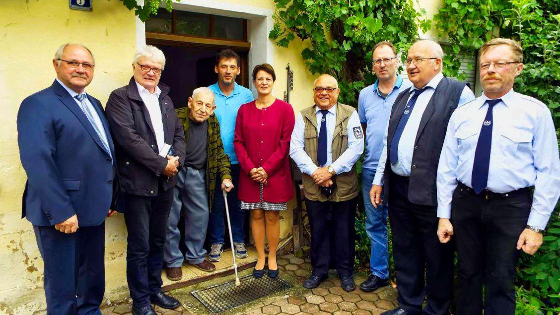 Geburtstagsgratulanten zum 95. Geburtstag von Konrad Zeißler
