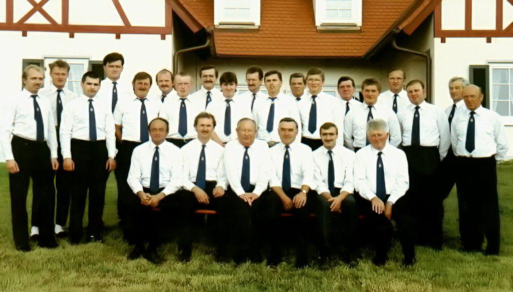 Der Männergesangverein Walkersbrunn im Jahr 1992