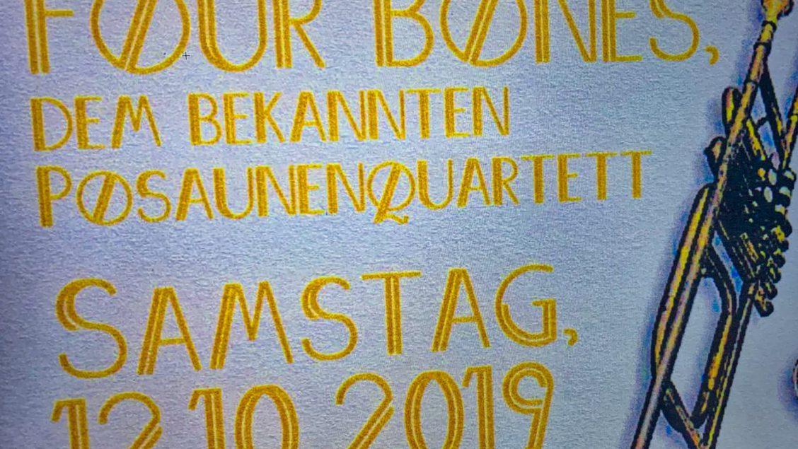 """Die """"Four Bones"""" treten in der Kirche in Walkersbrunn auf"""
