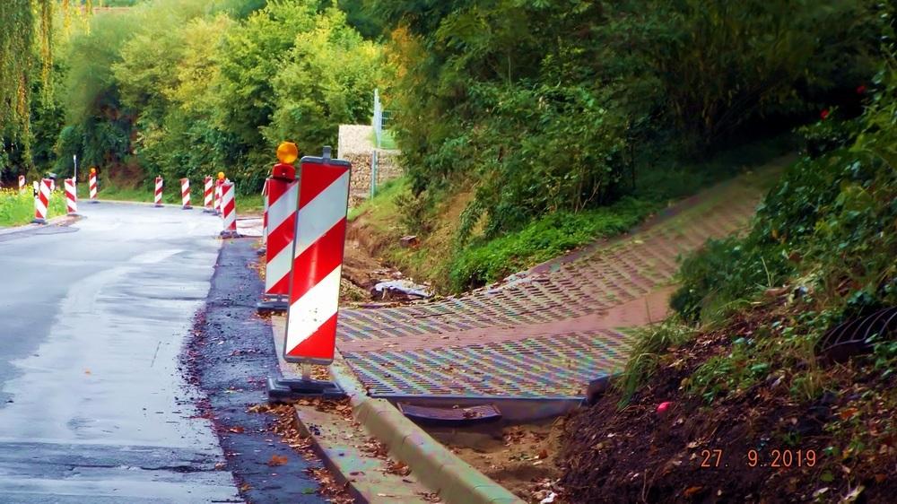 Straßenbau-Arbeiten in der Kasberger Straße in Walkersbrunn
