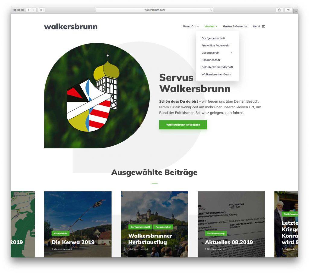 Startseite von walkersbrunn.com – Version 2.0 ab September 2019