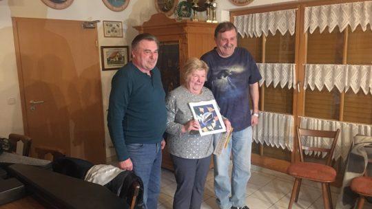 Walkersbrunner Schützen gratulieren Anni Trautner zum 75. Geburtstag
