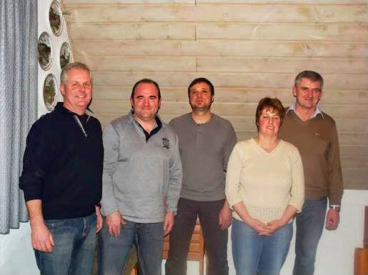 Von links: Bernd Kühlcke, Jörg Trummer, Günter Bernhard, Kerstin Igel und Reinhard Hofmann