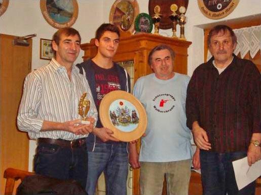 von links: Alois u. Johannes Schaffer, Adlatus Georg Escherich, Schiesswart Heiner Trautner