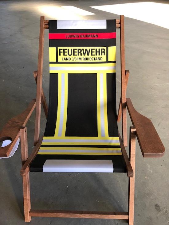 Liegestuhl für KBM Ludwig Baumann