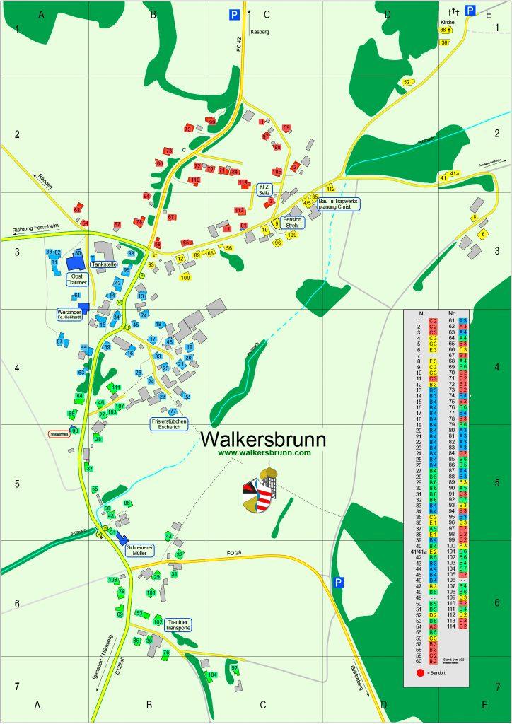 Lageplan Walkersbrunn zum 19.6.2021